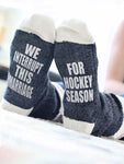 We Interrupt This Marriage For Hockey Season Socks