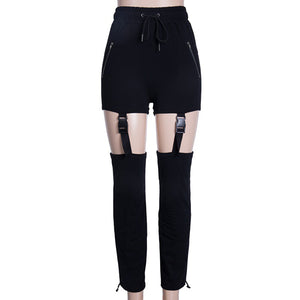Hollow Out Loose Harem Pants