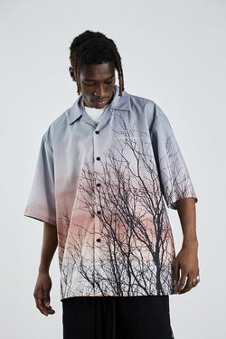 H/C Forest Print Cuban Shirt
