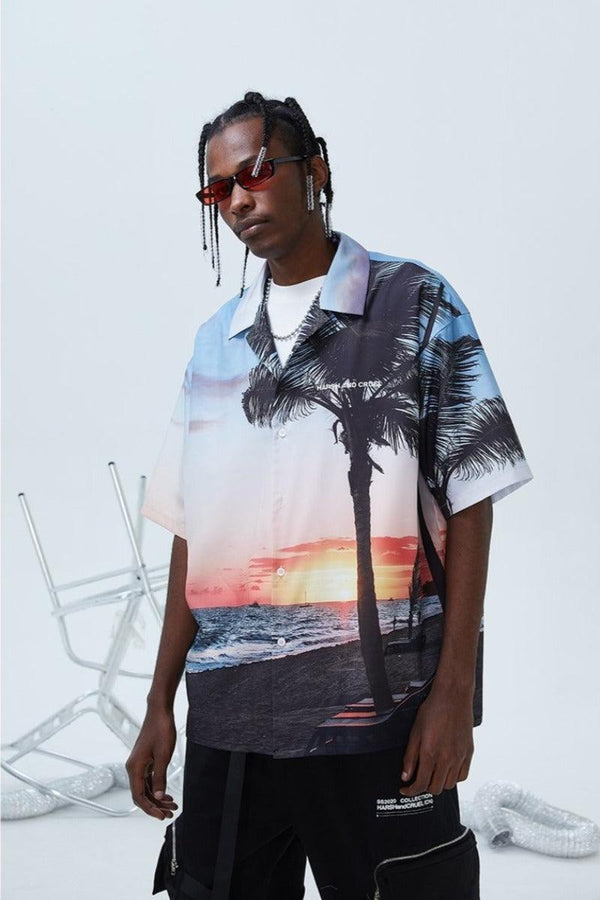 H/C Hawaii Sunset Cuban Shirt