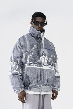 H/C The Last Supper Down Full Print Jacket