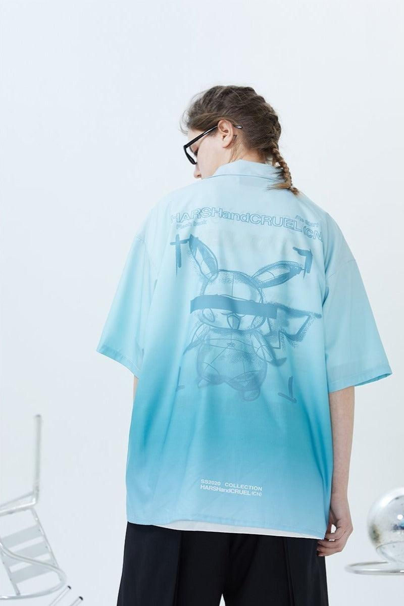 H/C Gradient Poke Cuban Shirt