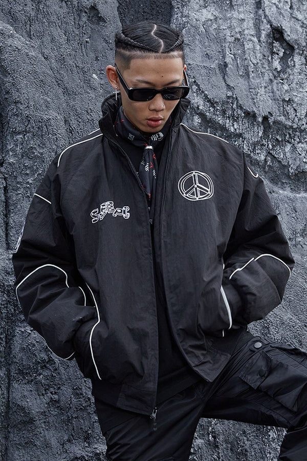 STEEPC Embroidered Logo Racing Jacket