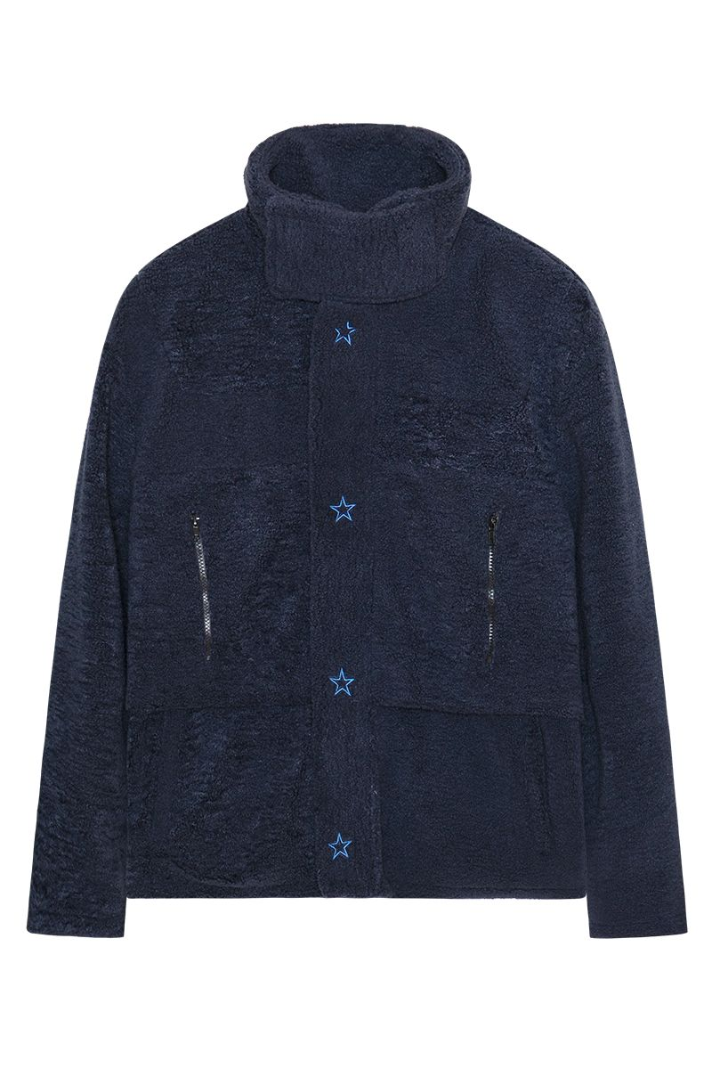 STEEPC Embroidered Logo Sherpa Jacket