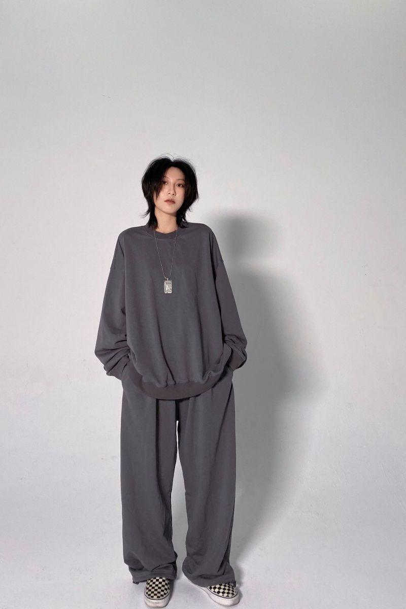 CZ Casual Gray Loose Pants