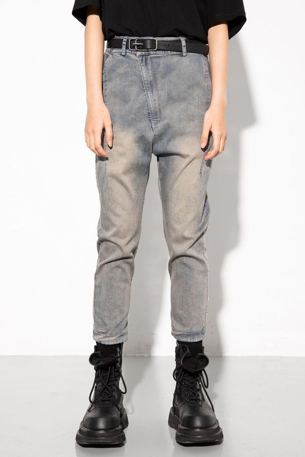 Unknown World Asymmetrical Washed Denim