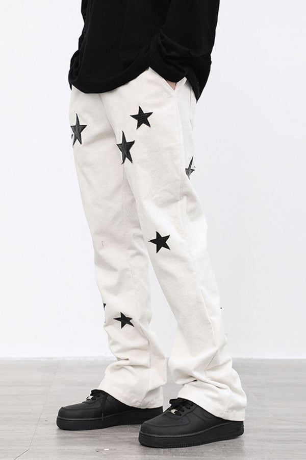 CZ Stars Corduroy Flared Trousers