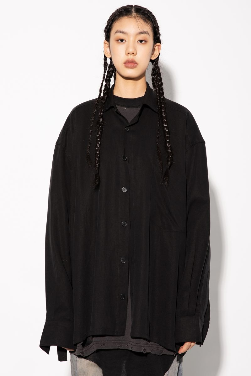 Unknown World Loose Silk Hemp L/S Shirt