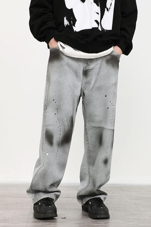 CZ Ink Washed Straight Trousers