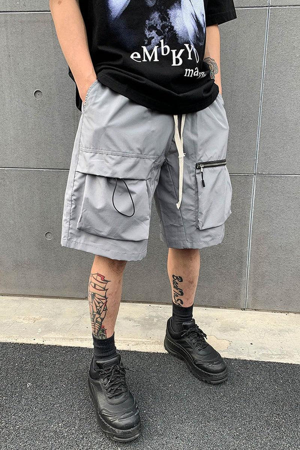 CZ Front Pockets Functional Shorts
