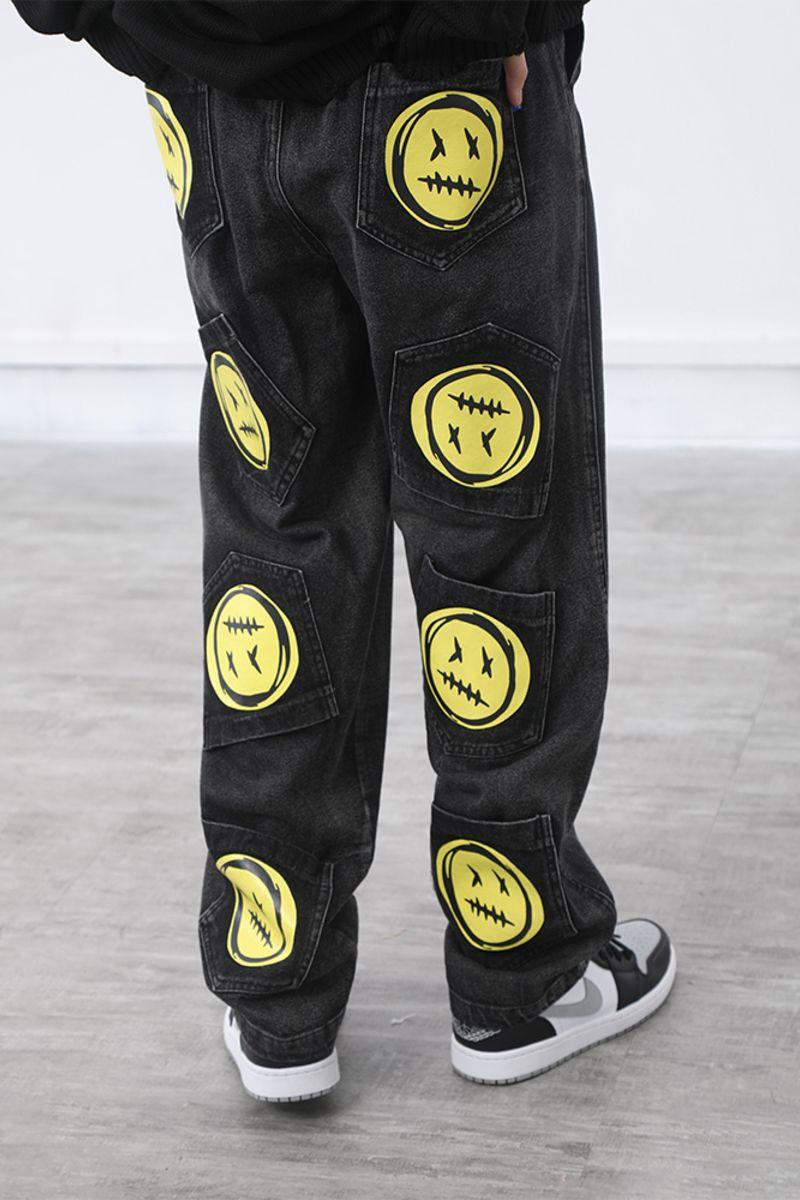 CZ Dead Emoji Multi Pockets Denim