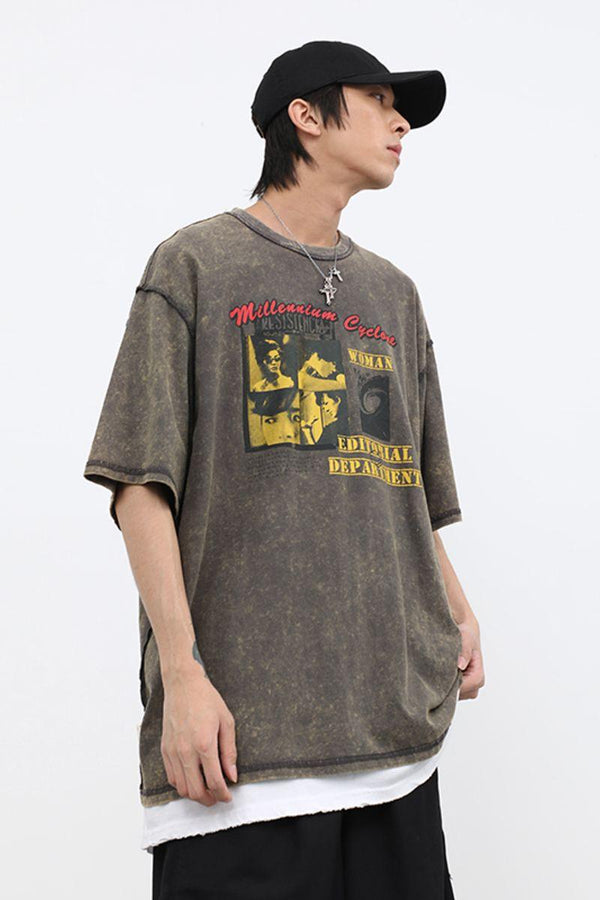 CZ ED Washed Retro Tee