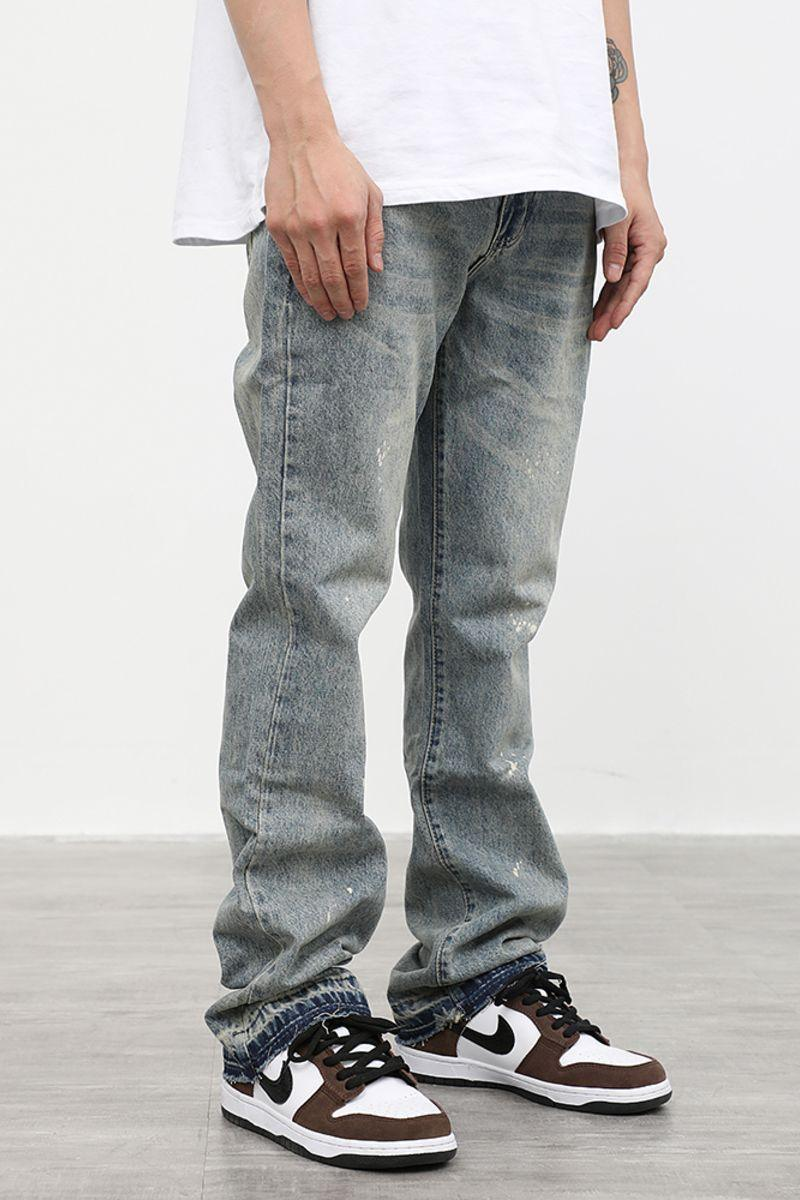 CZ Washed Straight Flared Denim