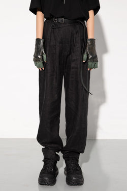 Unknown World Belt Straight Trousers