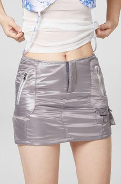 CZ Short Gray Skirt