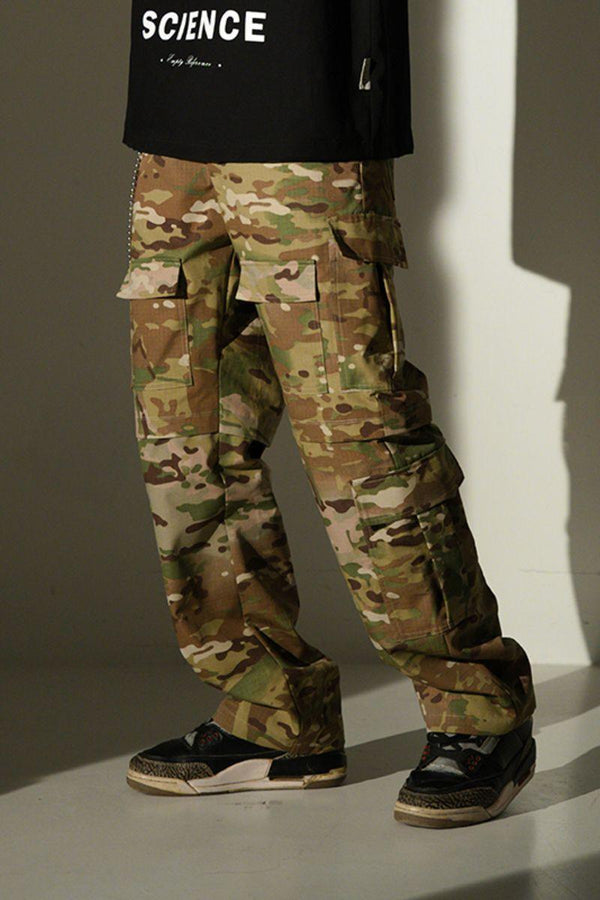 Empty Reference Camouflage Multi Pocket Trousers