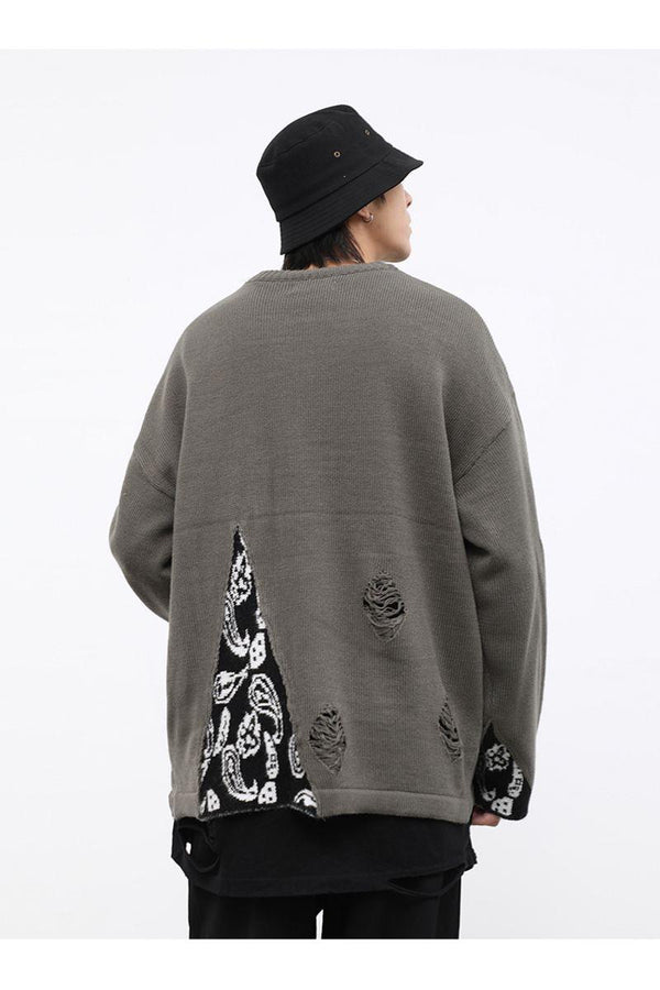 CZ Bandana Stitched Sweater
