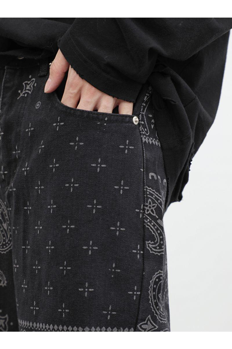 CZ Bandana Pattern Straight Trousers