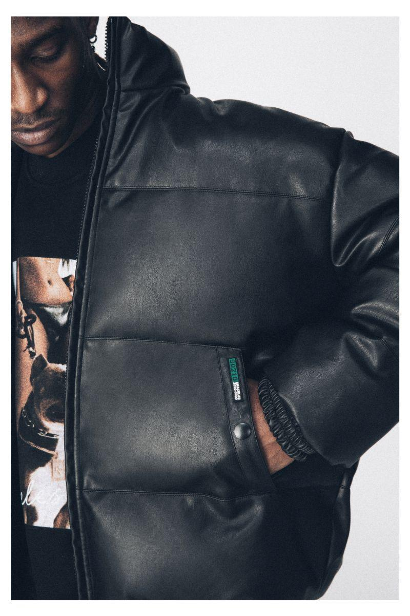 Antidote PU Leather Down Jacket