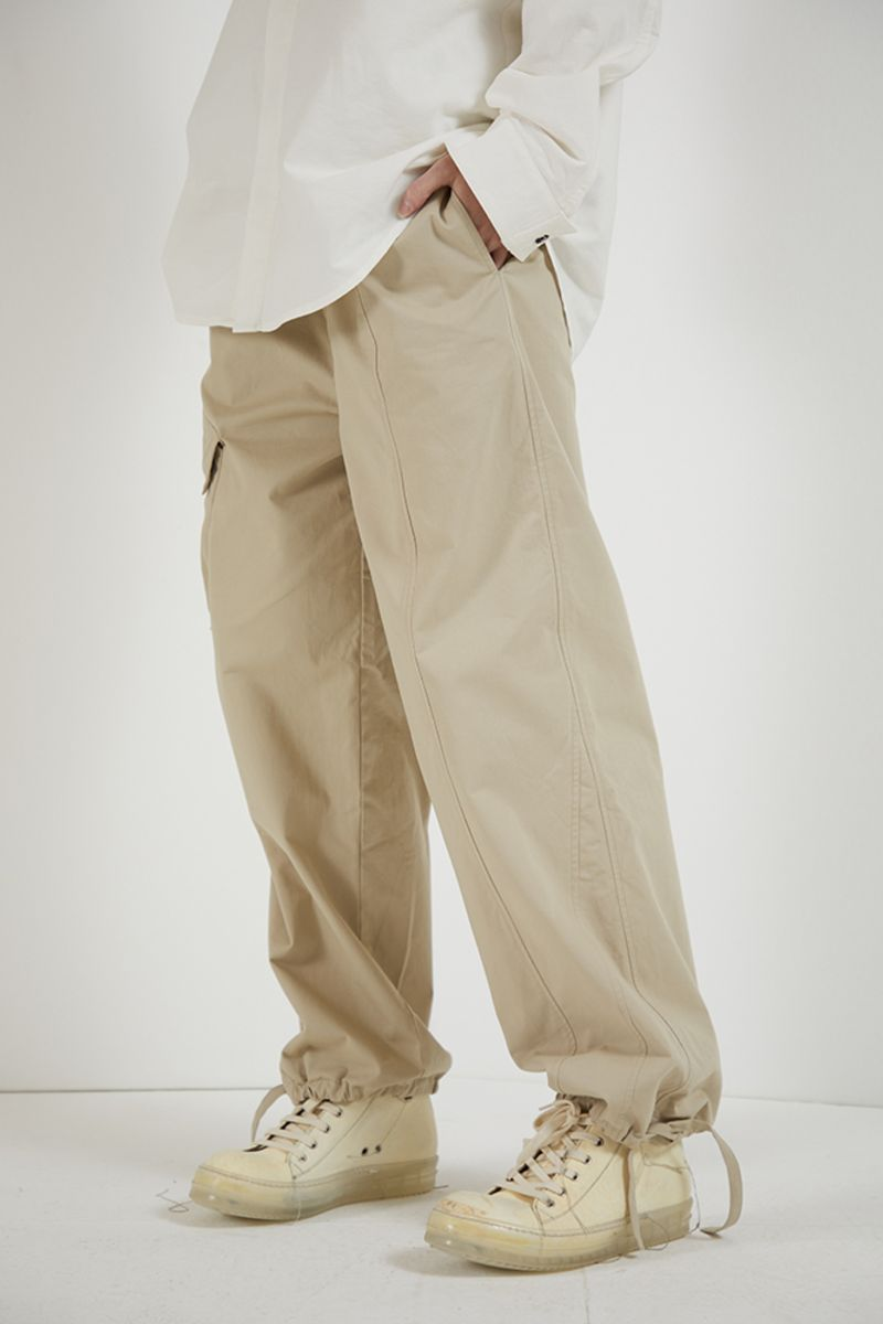 THINGY Khaki Irregular Trousers