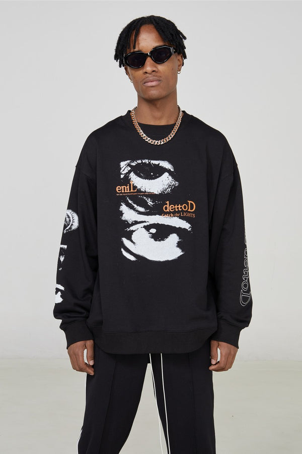 STEEPC Eyes Loose Sweater