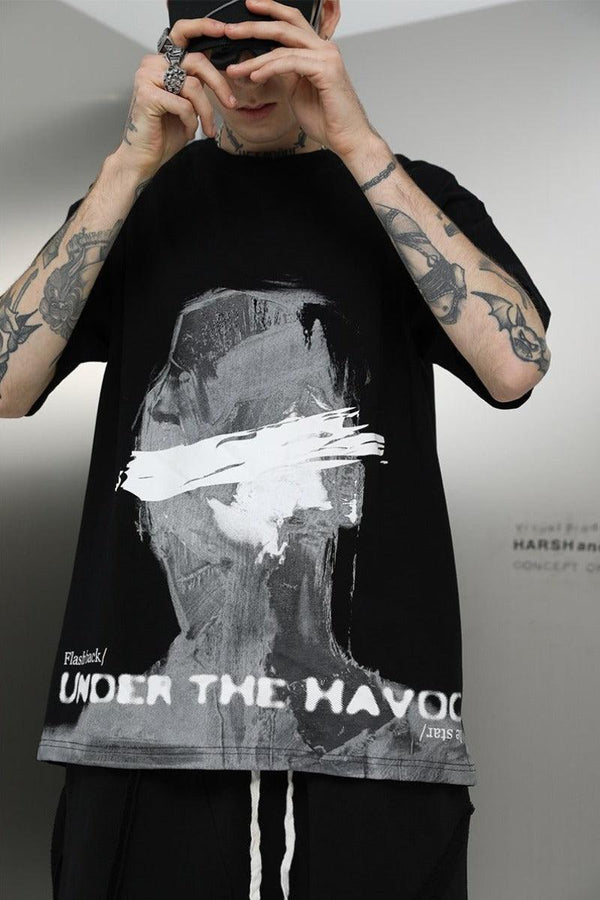 H/C Modern Art Brush Tee