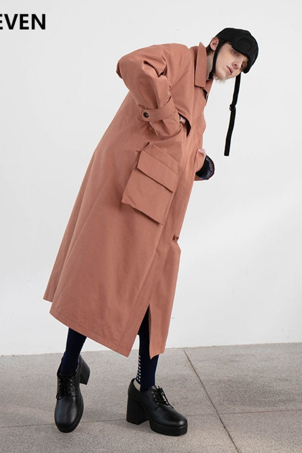 Mix7 Oblique Long Coat