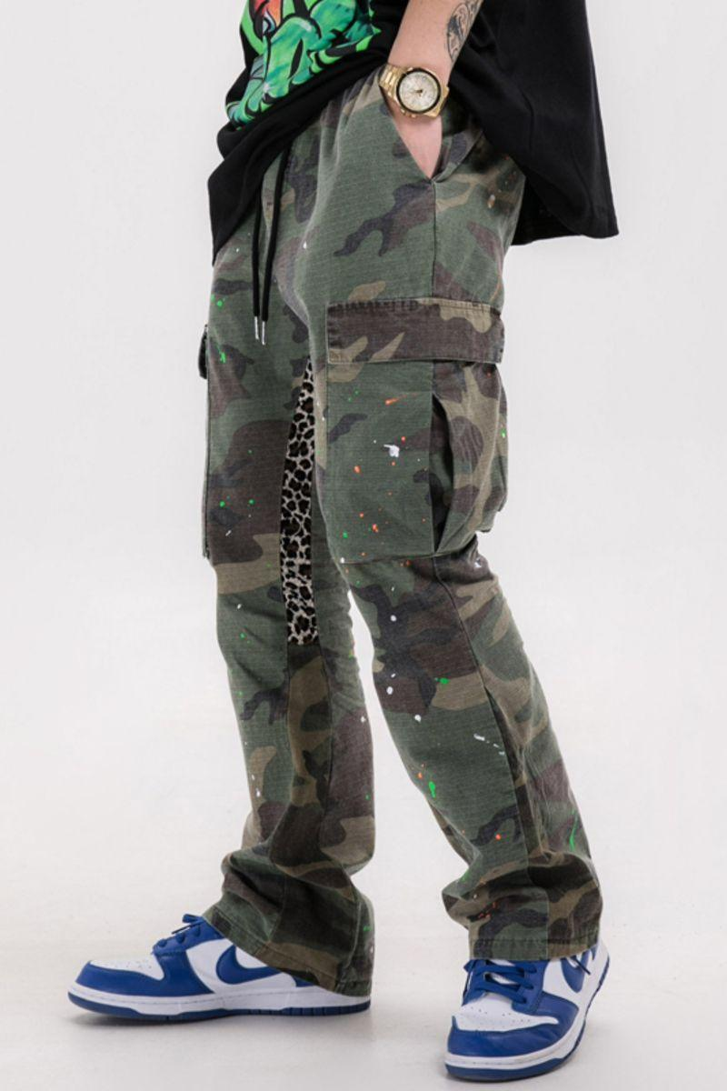 CZ Camo Stitched Flared Trousers
