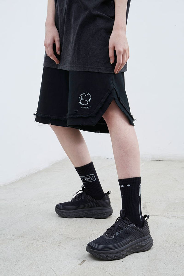 STEEPC Embroidered Logo Knitted Shorts
