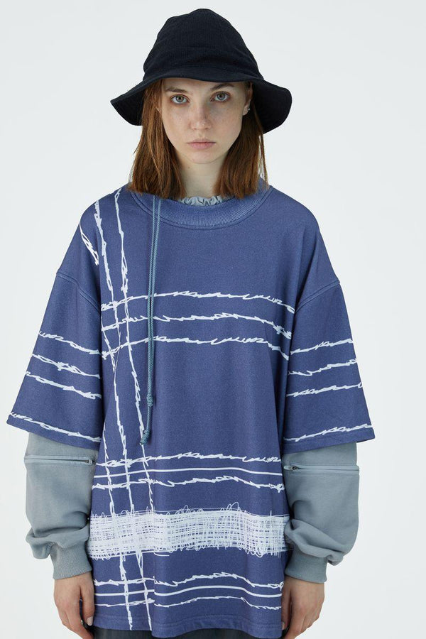 BLIND Multi Layered Stitched Sweater