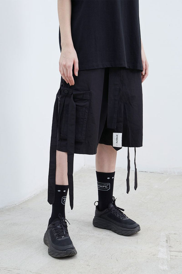 STEEPC Straps Loose Shorts