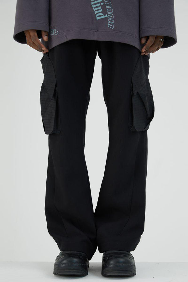 BLIND Retro Flared Trousers