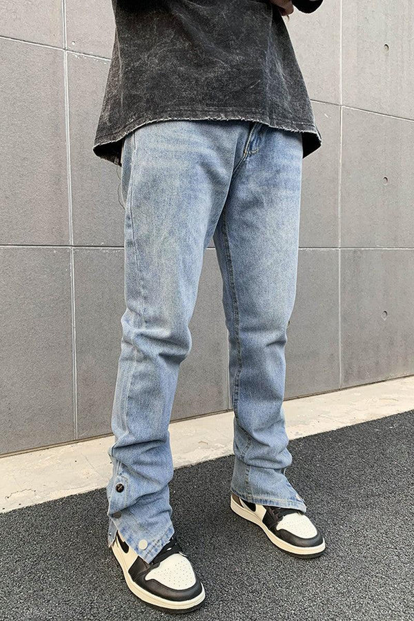 CZ Washed Adjustable Loose Denim