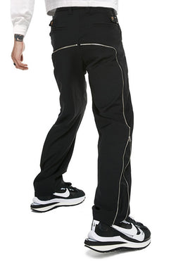 Old Order Zipper Straight Suit Trousers