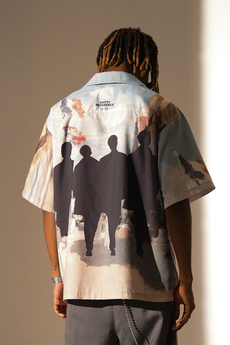 Empty Reference Silhouette Cuban Shirt