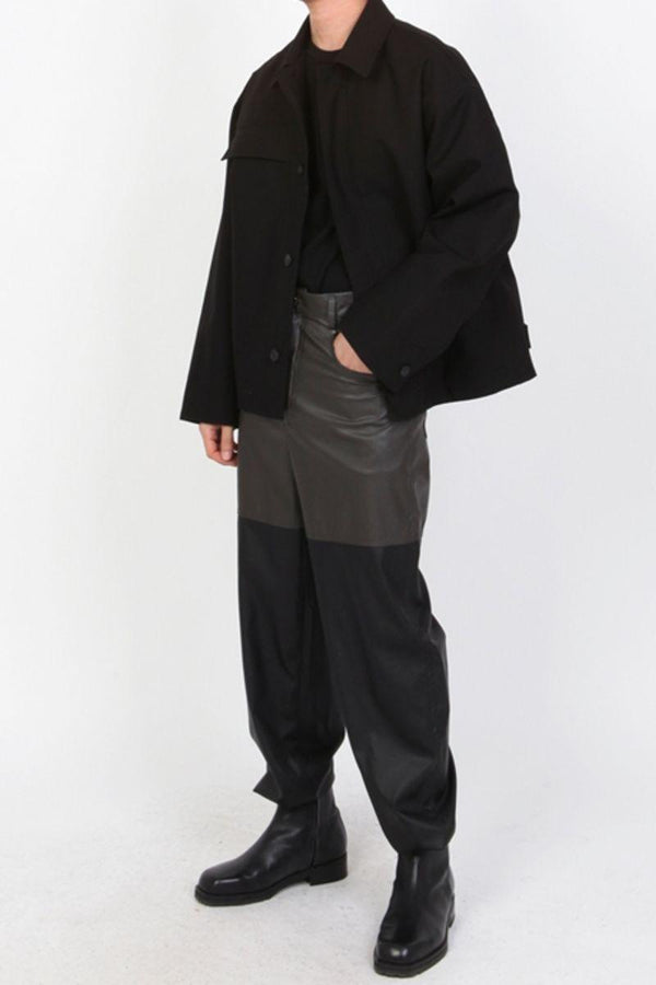 CZ Leather Two Tone Trousers