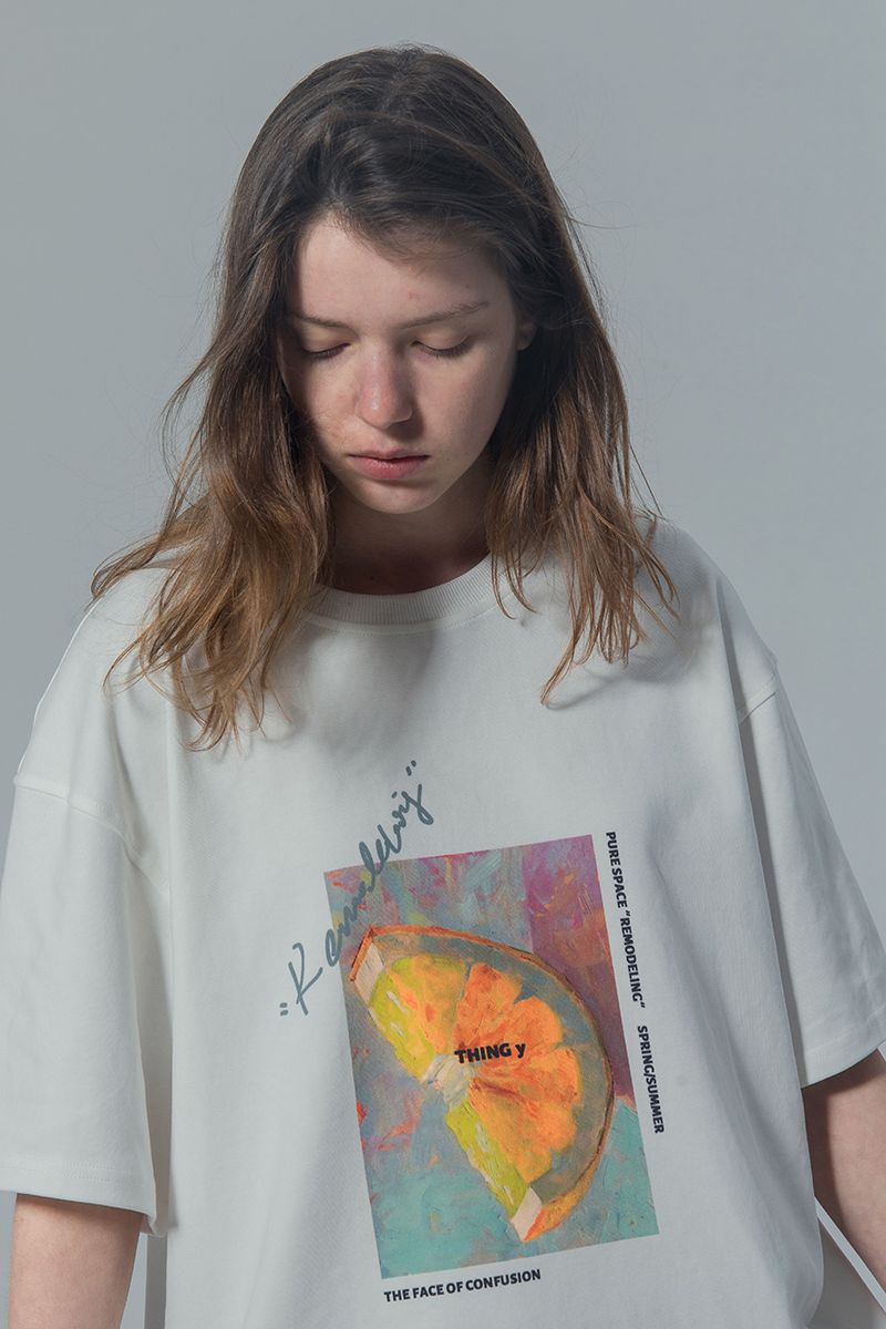 THINGY Orange Painting Loose Tee
