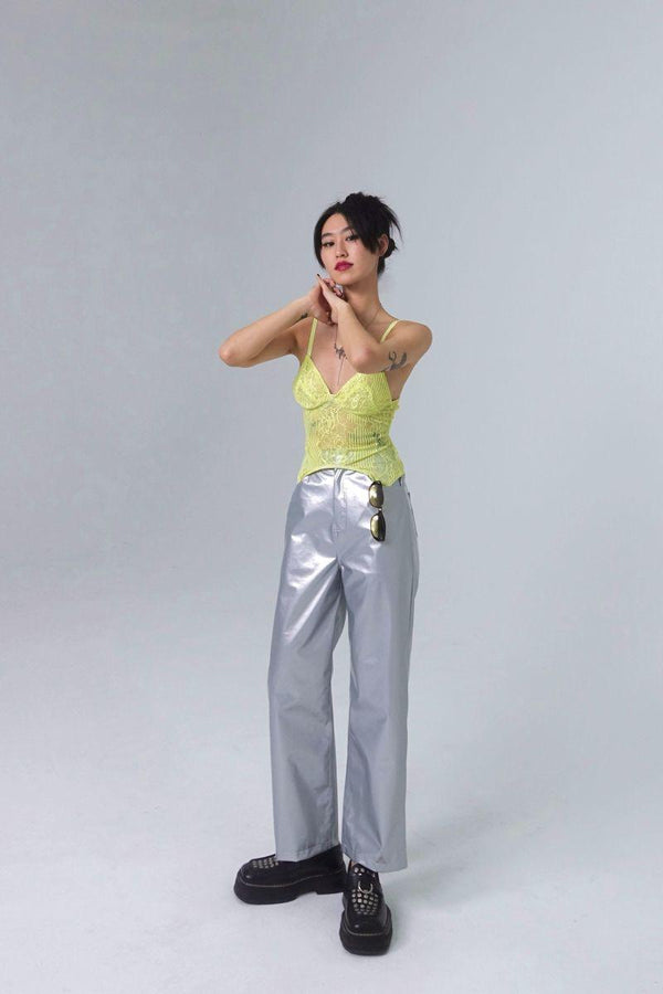 CZ Silver Straight Trousers