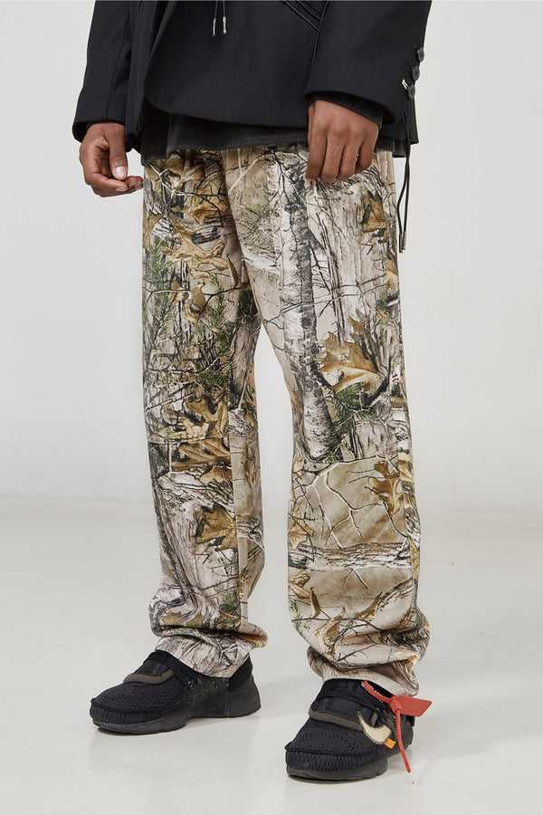 STEEPC Leaves Camo Loose Trousers