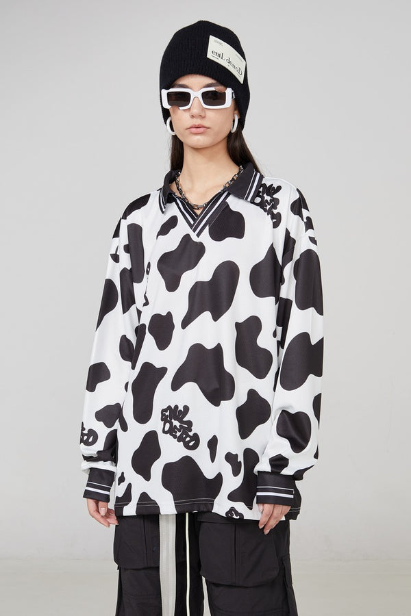 STEEPC Cow Pattern LS Tee