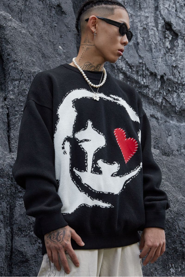 STEEPC Clown Knit Sweater