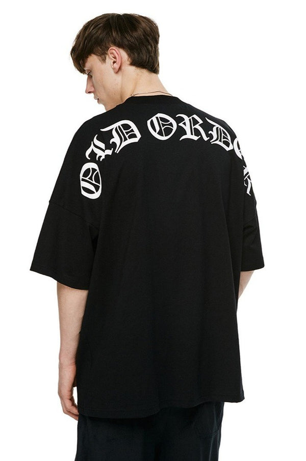 Old Order Gothic Font Logo Loose Tee
