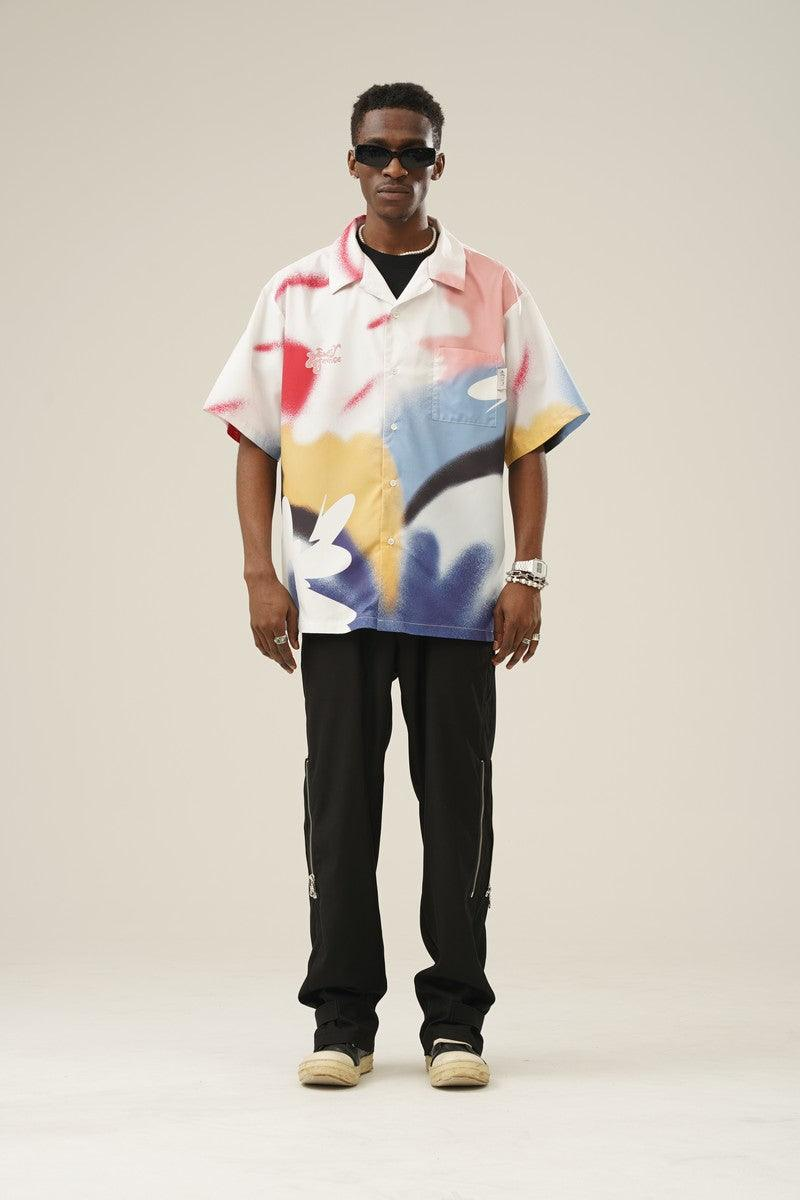 Empty Reference Abstract Flower Cuban Shirt