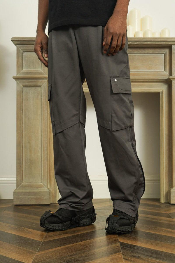 Empty Reference Casual Straight Pockets Trousers