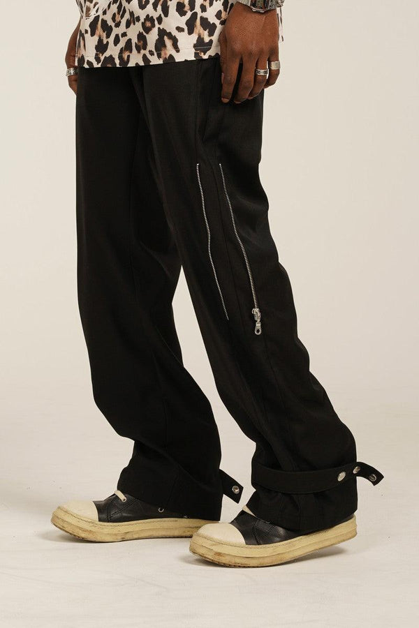 Empty Reference Zipper Adjustable Casual Pants