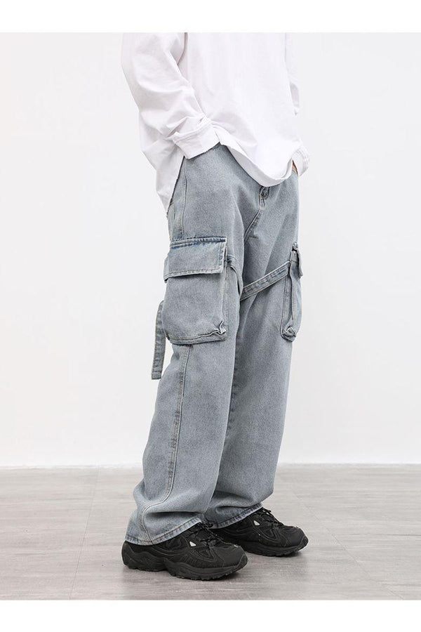 CZ Washed Straps Cargo Denim
