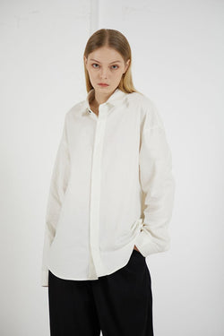 THINGY Basic White L/S Shirt