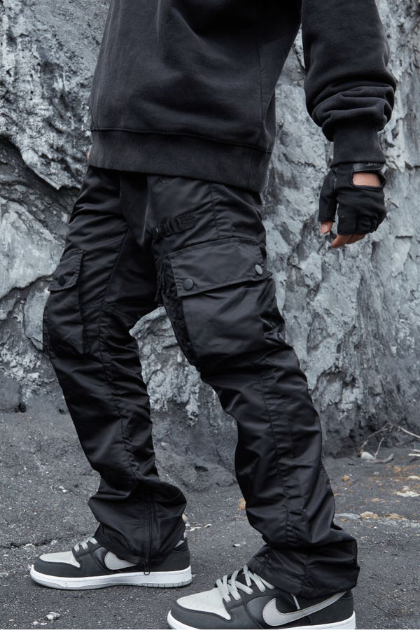 STEEPC Multi Pocket Flared Trousers