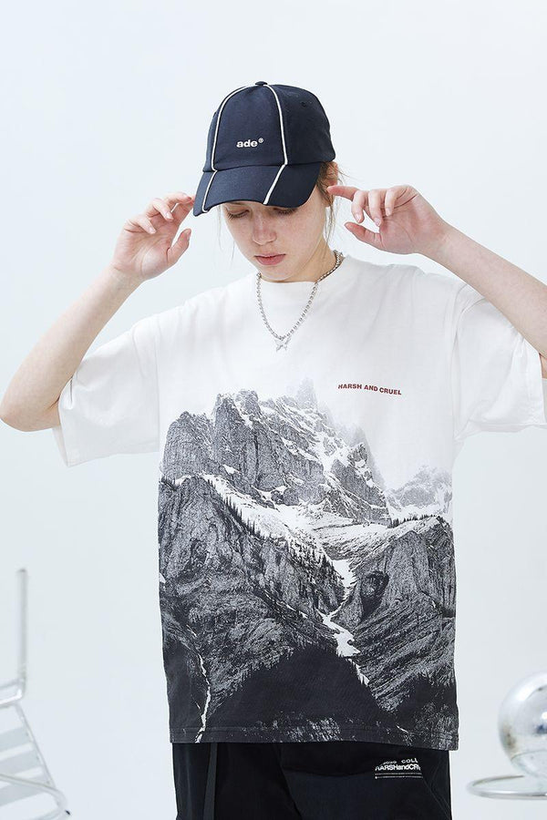 H/C Mountain Full Print Tee