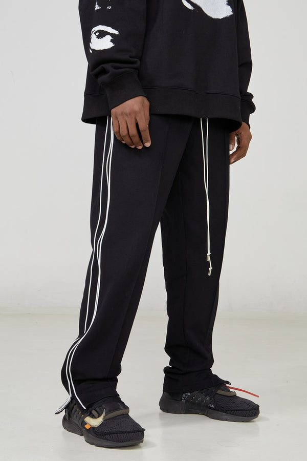 STEEPC Drawstrings Straight Casual Trousers